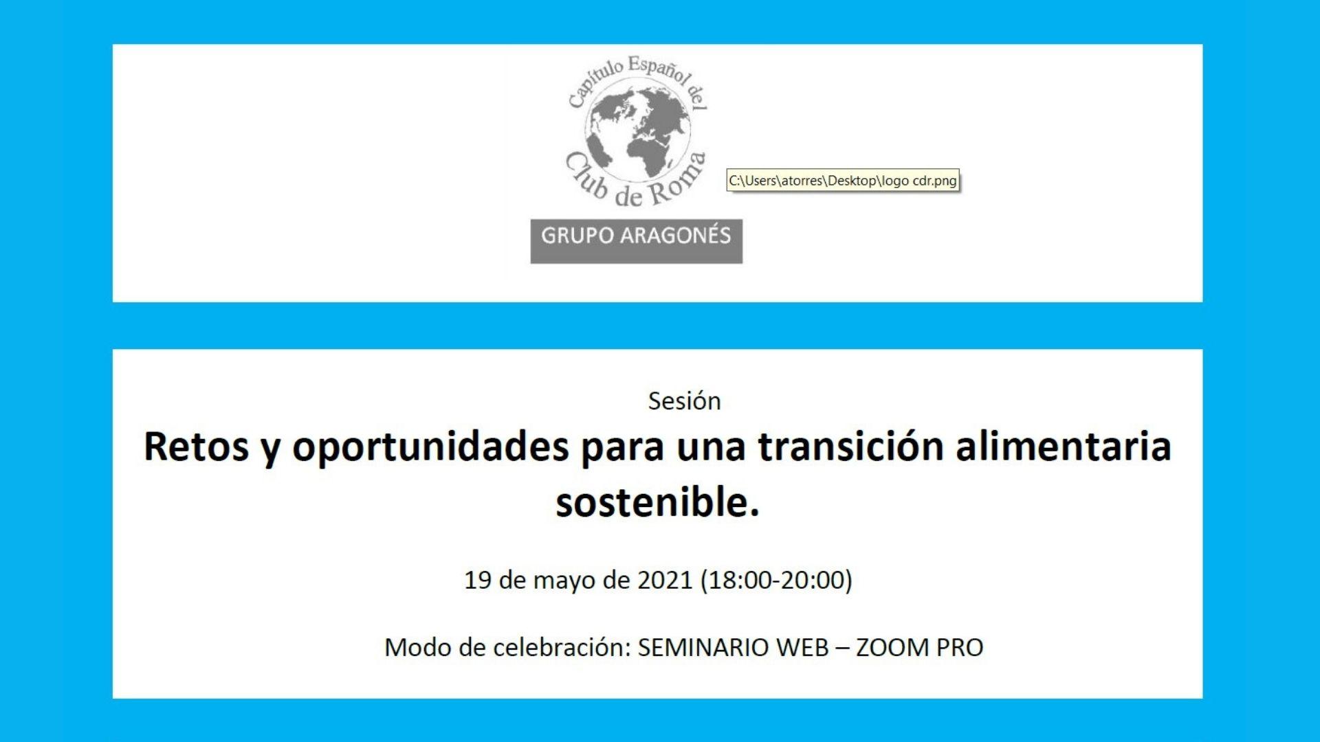 Sesión: Retos y oportunidades para una transición alimentaria sostenible